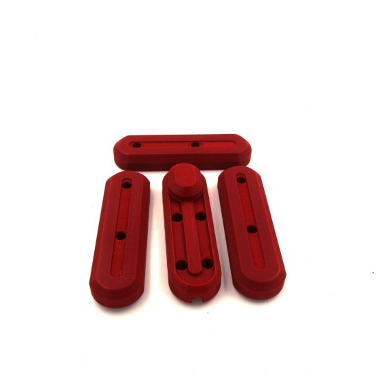 Set of 4 Cover Sides 3D Fork For Xiaomi Electric Skates Red