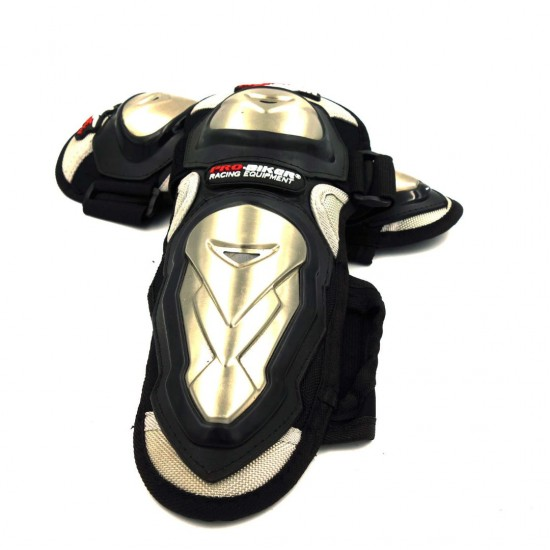 Knee Kits for Moped - Scooter - Bicycle Black with Aluminum