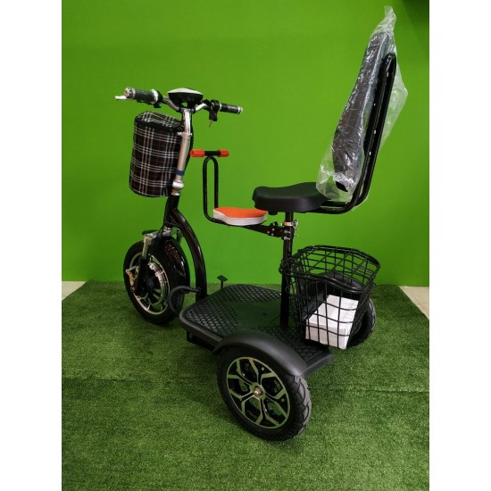 Three-Wheeled Electric Vehicle Black