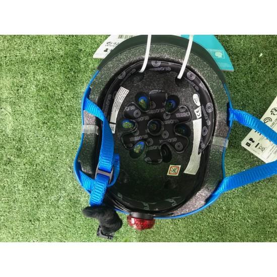 Globber Elite Lights Racing Kids Helmet Blue