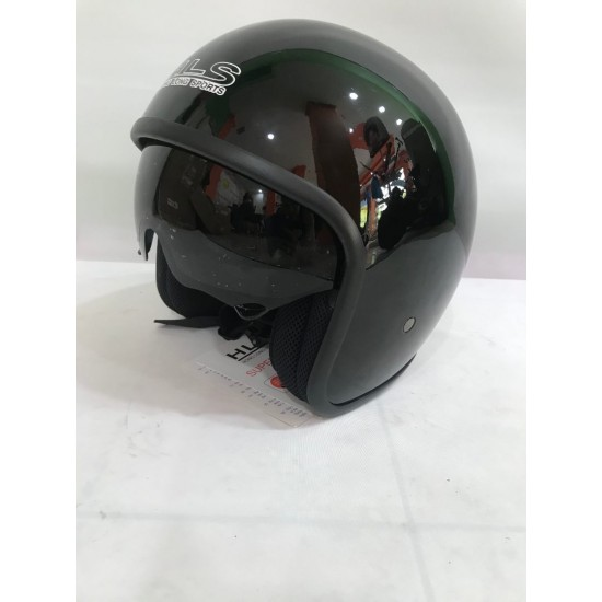 Black Helmet with Protective Cover for the Eyes