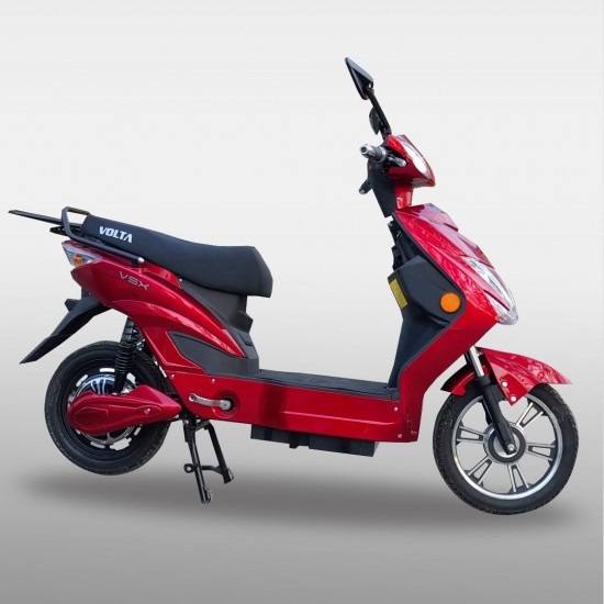 Electric Moped With Assistance Red