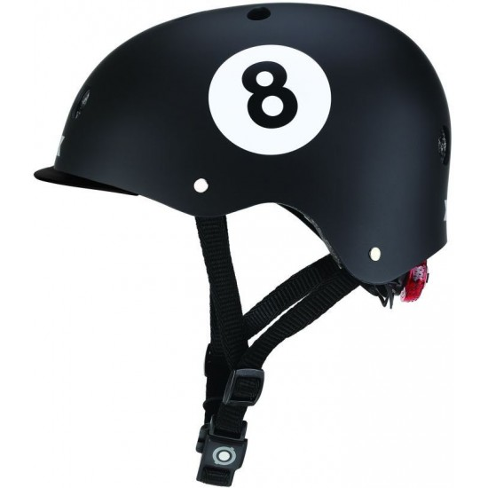 Globber Elite Lignt Children's Helmet With Shining Led Black