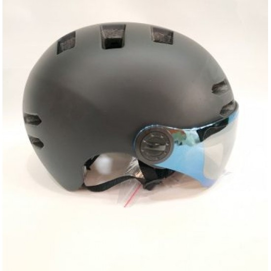 Helmet With Protective Glasses Black
