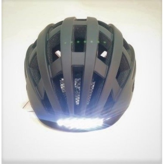 Helmet With Rechargeable Lights With USB Black