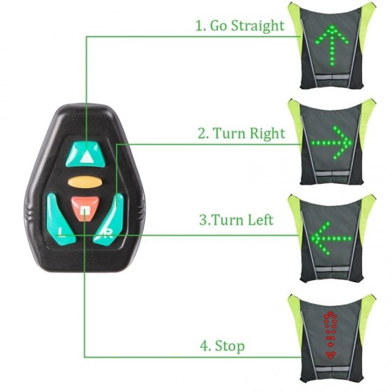 Reflective Led Safety Vest With Remote Control